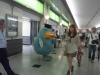 大阪駅で仕事中