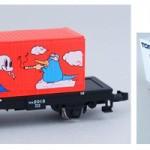 TOMIX製 オリジナルデザイン貨車 コム1形、カモノハシのイコちゃん×へび