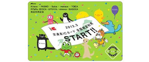 2013年3月23日 鉄道系ICカード全国相互利用開始記念カード発売 JR北海道(Kitaca)