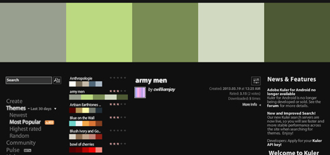 Adobe Kuler 「army men」