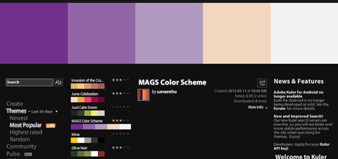 Adobe Kuler 「MAGS Color Scheme」