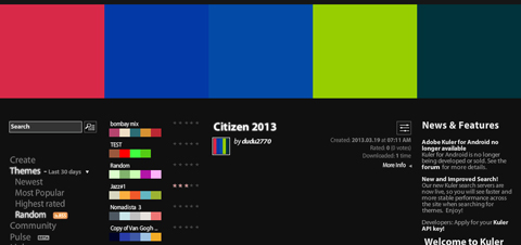 Adobe Kuler 「Citizen 2013」