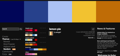 Adobe Kuler 「lemon pie」