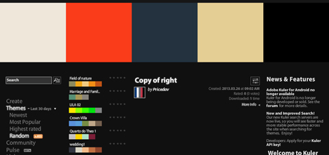 Adobe Kuler 「Copy of right」