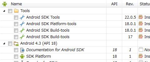 Android SDK インストール方法