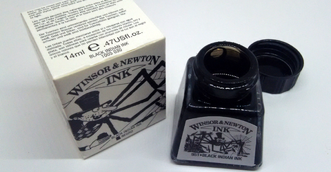 Winsor&Newton Black Indian Ink