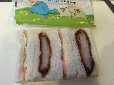 ICOCAのイコちゃんサンドイッチ