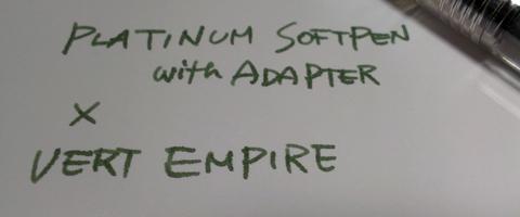 ソフトペンにアダプターを挿してみた
