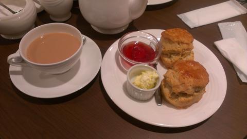 阪急百貨店2012 英国フェアで出展していた喫茶ブースのスコーン