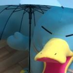 カモノハシのイコちゃん浮絵ジャンプ傘