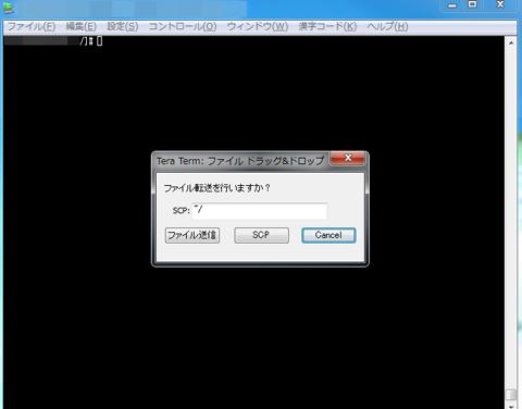 TeraTerm ファイル転送