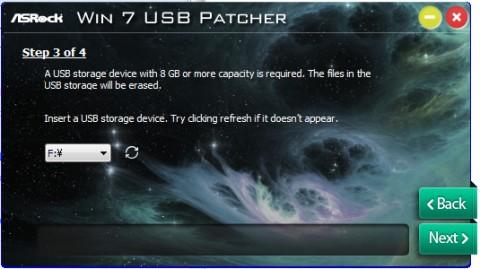 ASRock Windows7 USB patcherツールの使い方